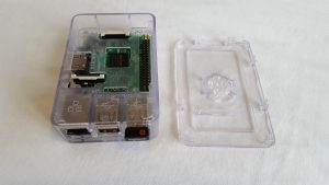 Clear box with Pi board fitted